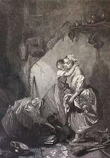 La devineresse de Marcel Verdier litho par Metzmacher 1848 Magie Médium Voyante