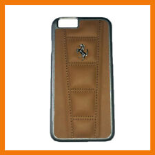 New Brown Ferrari Official Licensed iPhone 6S Cover/Case Real Leather A5