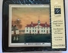 New Lady Clare Coasters Mount Vernon Hand Crafted Factory Sealed Set of 4
