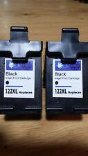 2xBlack 122XL Ink Cartridge for HP F2423 F2430 F2476 F2480 F2483 F2488