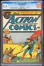Action Comics #31 CGC 8.0 DC 1940 Bondage Cover