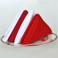 Cotton Napkins Handkerchief Cloth Wedding Banquet Kitchen Table Decor CB