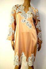 Marjolaine Babydoll Dress Medium 98% Silk & Dentelle L/FR42 & XL/FR44 Beige'