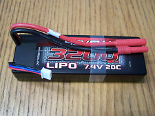 Redcat Racing Hexfly 2S 7.4V LiPo 3200mah 20C Battery HX-320020C-BV2 Blackout