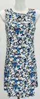 Florence & Fred Blue White Lemon Pink Floral Summer Shift Mini Sun Dress Size 10