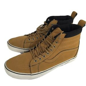 Vans Off The Wall Skate SK-8 Hi Sneakers Laced Boots Mens 11.5 Hipster Honey