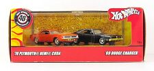 Hot Wheels '70 Plymouth Hemi Cuda & '69 Dodge Charger 1/64 Scale