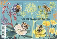 France 2016 Solitary Bees/Insects/Nature/Conservation/Flowers 4v m/s (n45655)