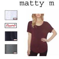 SALE! Matty M Womens Roll Cuff Short Sleeve T Shirt Top Shirt VARIETY! C21 C22