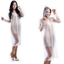 Women rain coat Fashion Transparent Clear Raincoat Windproof jacket clear