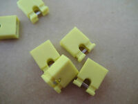 """2000x Computer Mobo/CD/DVD Shunt Jumpers 2.54mm 0.1"""" YELLOW PANEL PCB HEADER PIN"""