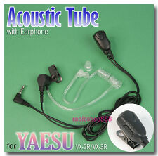 Acoustic Tube earpiece PTT for Yaesu VX-2R VX-3R FT-60R