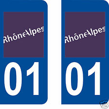 stickers autocollants plaques immatriculation auto Département Ain 01