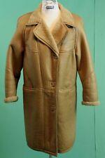 Vintage-Walbusch Lamm Fell Mantel Damen braun ca 40/M Leder shearling*
