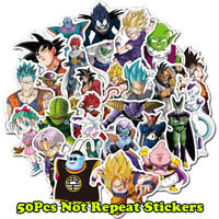 50Pcs Vinyl Anime Dragon Ball Stickers Goku Sticker For Laptop Phone Car Decals