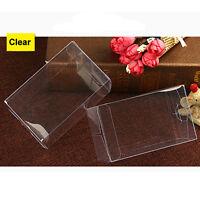 10 50PCS Rectangle Clear Plastic PVC Cake Wedding Favor Gift Candy Box 6x6xHcm