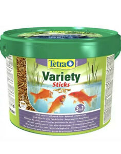 TETRA POND VARIETY STICKS 10L COMPLETE FOOD FOR ALL POND FISH KOI 72hr Tracked