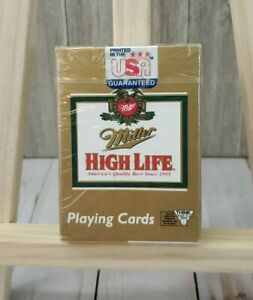Vintage Gold Miller High Life Beer Playing Cards Made in USA Sealed Hoyle