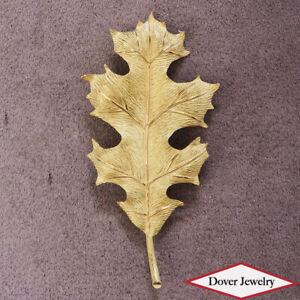 Vintage TIFFANY & CO. 18K Gold Leaf Design Large Pin 9.1 Grams NR