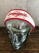 Vintage Bicycle Head band Campagnolo Red White  Cycling Italy Eroica