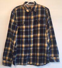 Gap + Pendleton Men's Button Front Flannel Shirt Blue Plaid Front Pockets Large
