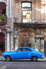 BEAUTIFUL CLASSIC CAR CANVAS PICTURE #26 STUNNING RETRO CAR IN CUBA A1 CANVAS