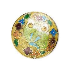 8299 Cloisonne Coin Disc Bead Multi 30mm sold per bead *UK EBAY SHOP*