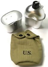 WWII US  M1942 CANTEEN CARRY COVER, CANTEEN & CUP