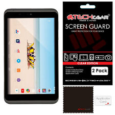 "2 Pack of TECHGEAR CLEAR Screen Protector Guards for Tesco Hudl 2 8.3"" (Hudl2)"