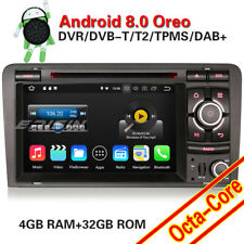 "7""Android 8.0 DAB+Autoradio Doppel DinNavi GPS CD SD for Audi A3 S3 RS3 RNSE-PU"