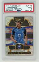 Kylian Mbappe 2017 Panini Select Unlimited Potential Prizm Card #UP-10 PSA 9