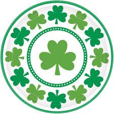 8 St Patrick's Day Shamrock Paper Plates Party Buffet Dessert Irish Party Plate