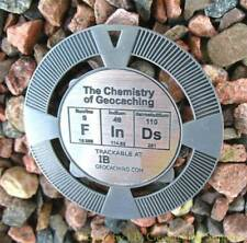 """FInDs - Chemistry of Geocaching Geomedal Geocoin (2.5"""", Antique Silver Colour)"""