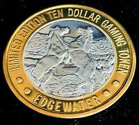 .999 $10.00 Silver Strike • Edgewater Hotel & Casino • Laughlin • Horses