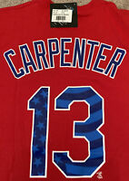Matt Carpenter Proud Fan Shirt Red Jersey 13 St. Louis Cardinals Large New NWT