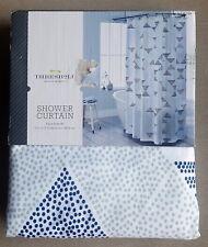 NEW Threshold FAUX SHIBORI Shower Curtain