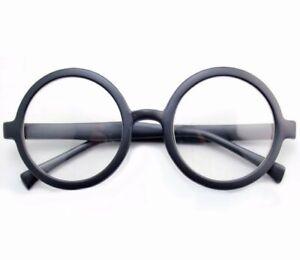 Kid's Harry Potter Black Round Glasses Hogwarts Wizard Geek Nerd Fancy Dress