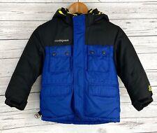 ZeroXposur Winter Jacket Youth Boys Size 6-7 Hooded Full Zip Blue / Black