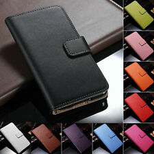 Genuine Leather Flip Wallet Case Cover For Samsung Galaxy S3 S4 S5 S6 S7 S8 Edge