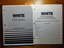 WFE White 4-175 Field Boss Tractor Owner Operator Manual + Service Specification