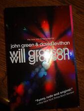 DAVID LEVITHAN SIGNED AUTOGRAPHED WILL GRAYSON, WILL GRAYSON JOHN GREEN