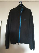 Armani  authentic mens top full sleeve and  front zip with pockets dark grey