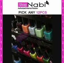 12pcs Nail Polish NABI Square Glass Bottle Nail Polish