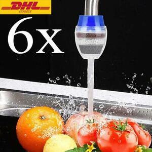 6 Aktivkohle Wasserhahn Wasserfilter Armatur Filter Purifier 5-Filtrationsstufen