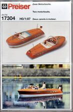 HO Scale Preiser Kg 17304 Speed Boat/Motorboat Kit pkg (2)
