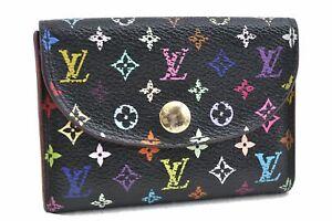 Louis Vuitton Multicolor Enveloppe Carte De Viste Coin Case M66558 Black D1017