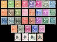 803-34, Mint NH Generally VF Complete Set of Singles - Stuart Katz