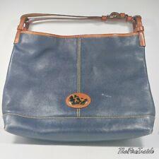 Vintage Dooney Bourke Handbag Leather Champosa Carryall Tote Satchel Duck Emblem