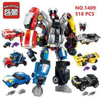 6 boxes 518pcs Kids Building Toys Blocks Puzzle 6in1Transformers ENLIGHTEN 1409