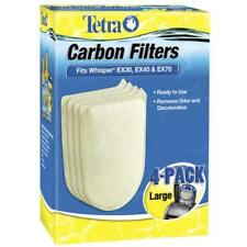 Fish Tank Tetra Whisper Carbon Filter Cartridges EX30, EX45, EX70 Large 4-Count